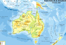 Australia Continent Physical Map
