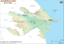 Azerbaijan River Map