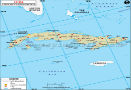 Cuba Latitude and Longitude Map