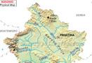 Kosovo Physical Map
