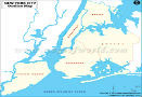New York City Blank Map