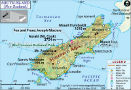 South Island Map, New Zealand