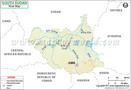 South Sudan River Map