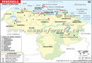 Venezuela Tourist Attractions Map