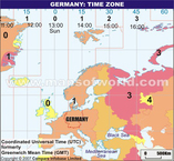 Germany Time Zone Map