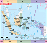 Indonesia Time Zone Map