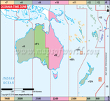 Oceania Time Zone Map