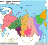 Russia Time Zone Map