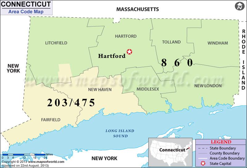 Connecticut Area Codes