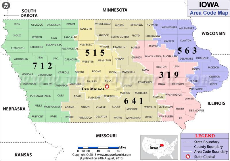 Iowa Area Codes