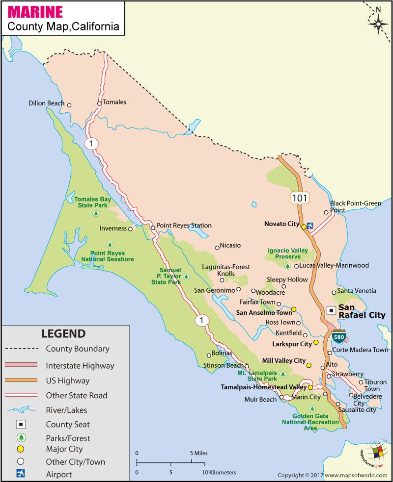 Marin County Map