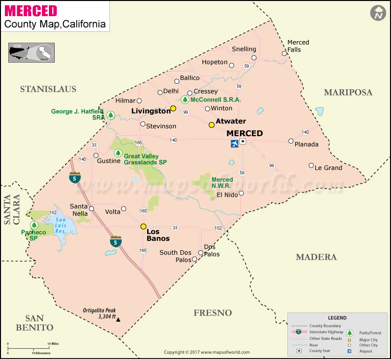 Merced County Map