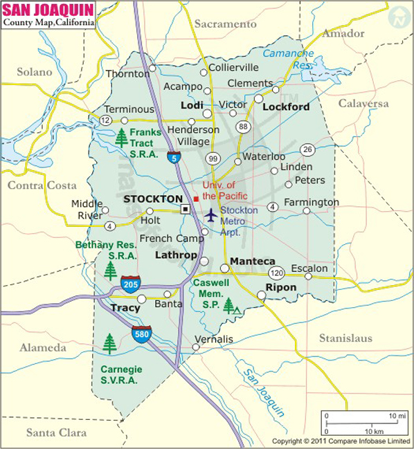 San Joaquin County Map