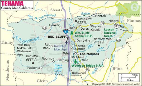 Tehama County Map