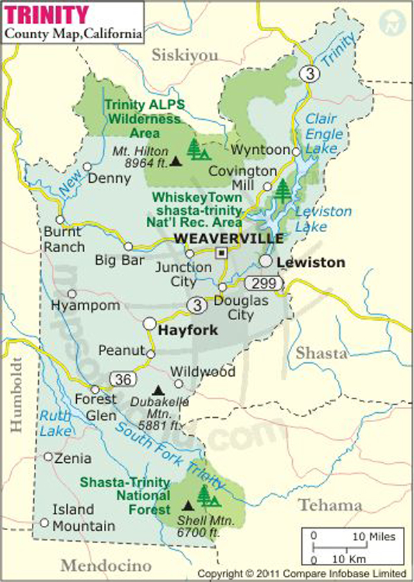 Trinity County Map