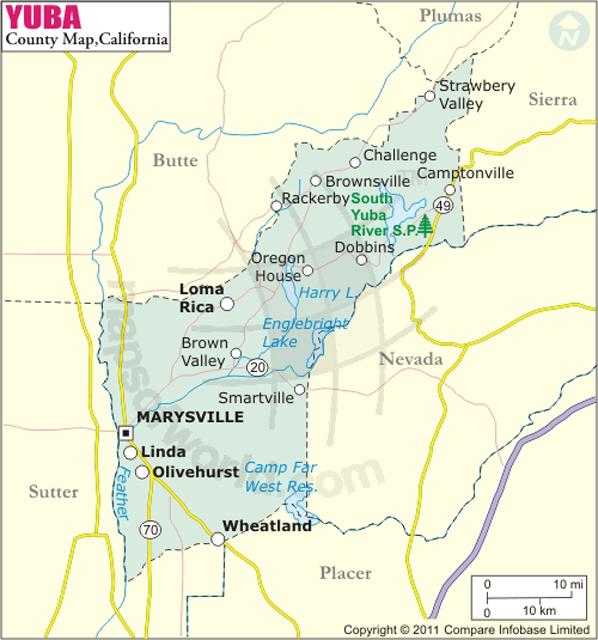 Yuba County Mapyuba county