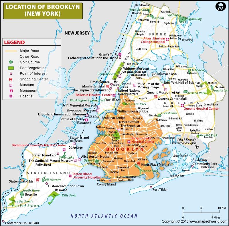 New York City Maps NYC Maps Of Manhattan Brooklyn Queens Brooklyn - Brooklyn on the us map