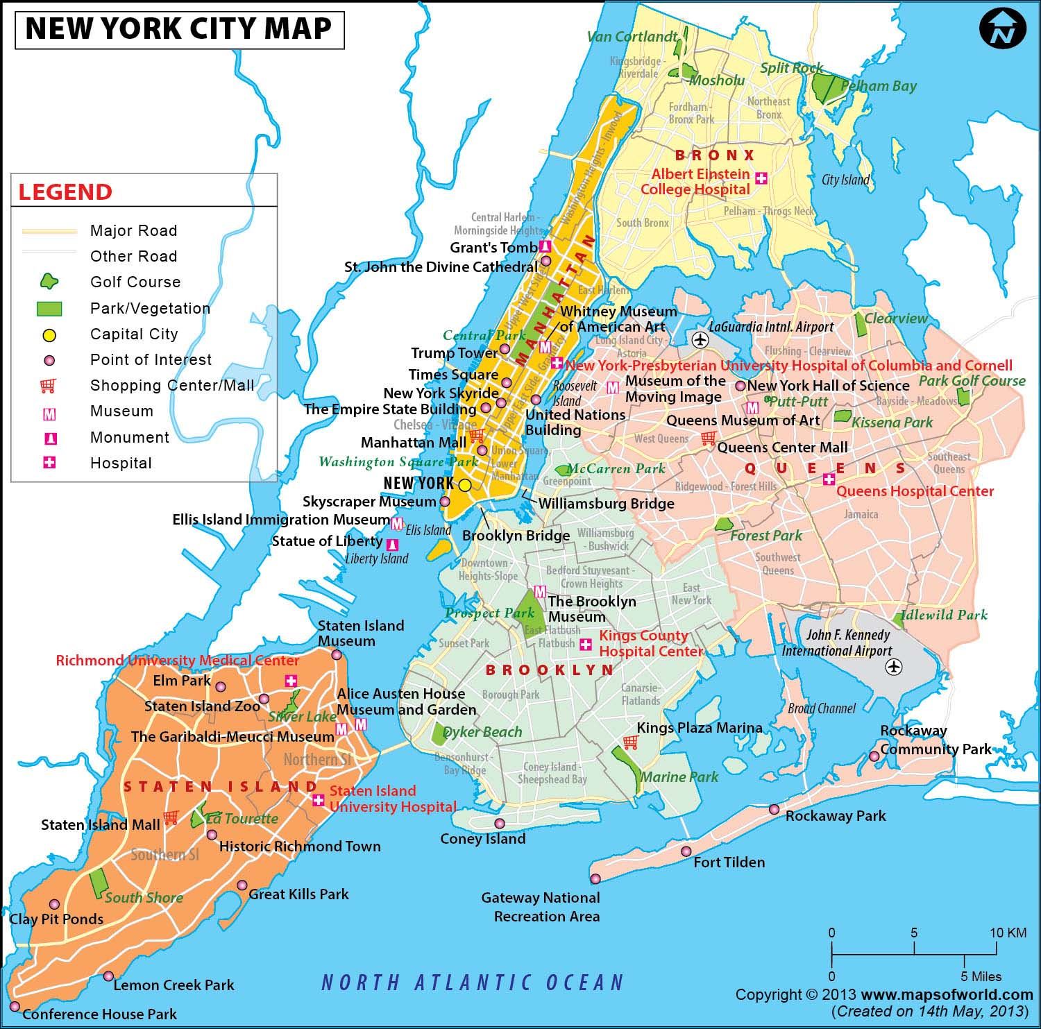 NYC Map New York City Map Map of New York City – New York Map Tourist Attractions