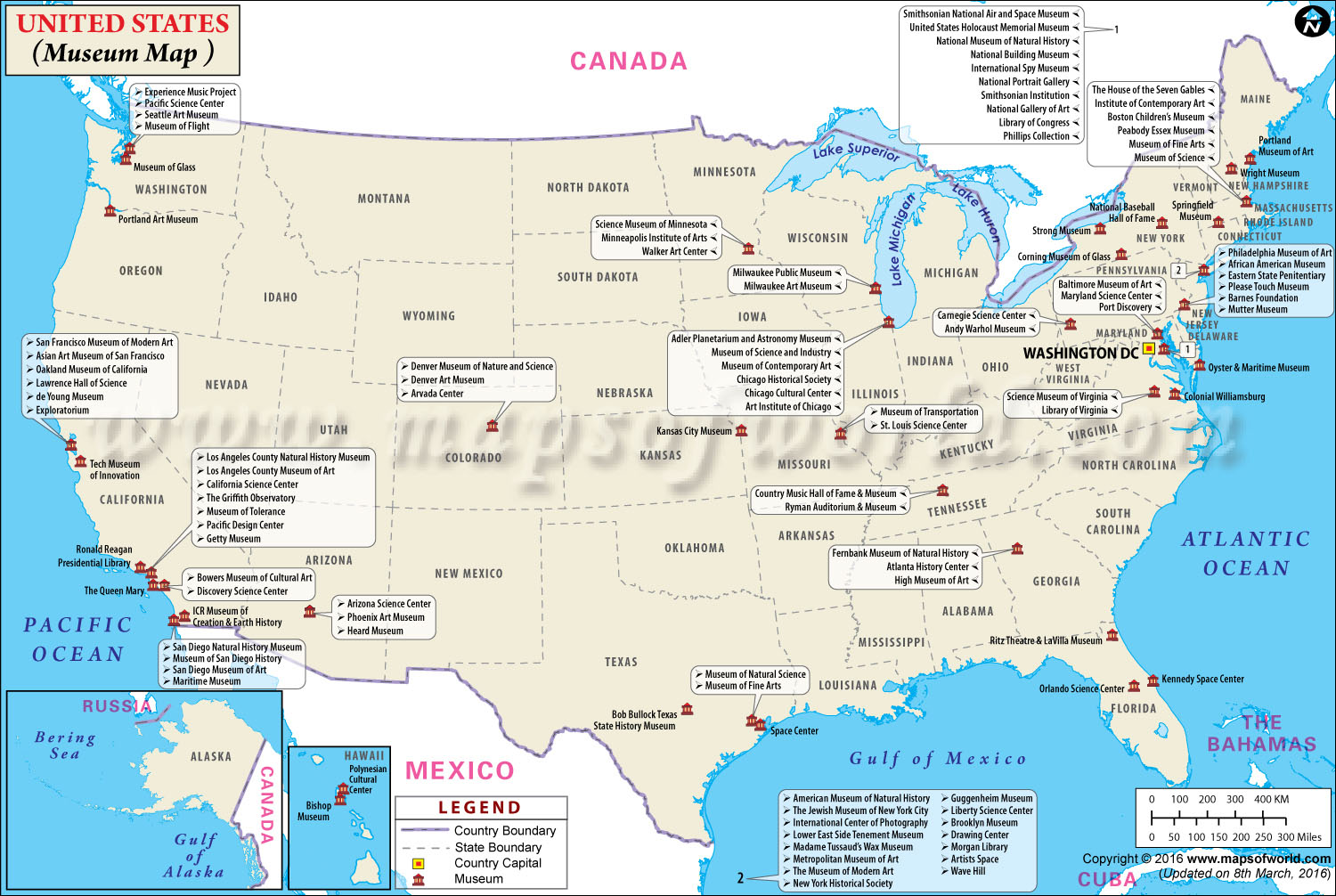 List of top museums in us usa museums map for Best museums in america