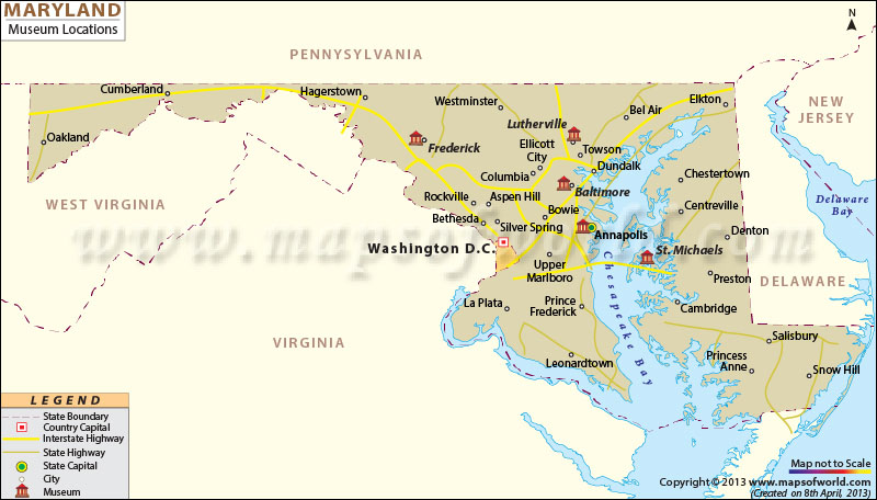 Maryland Museums Map