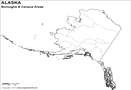 Blank Alaska Borough Map
