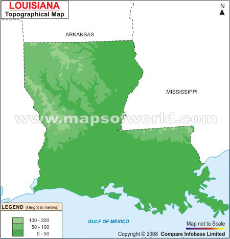 Louisiana Topographic Map