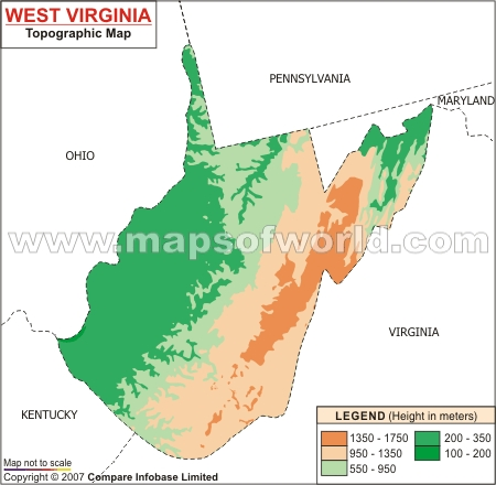 West Virginia Topographic Map