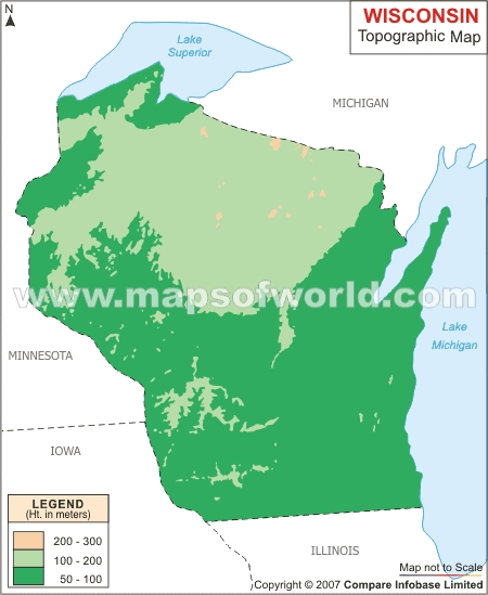 Wisconsin Topographic Map