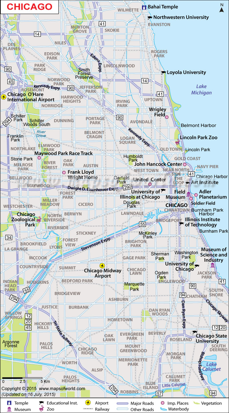 Chicago Map Map of Chicago Neighborhoods Chicago Illinois Map – Tourist Attractions Map In Illinois