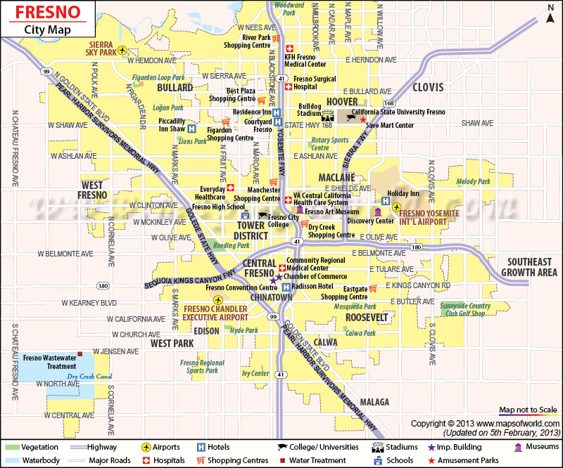 Fresno Map | City Map of Fresno