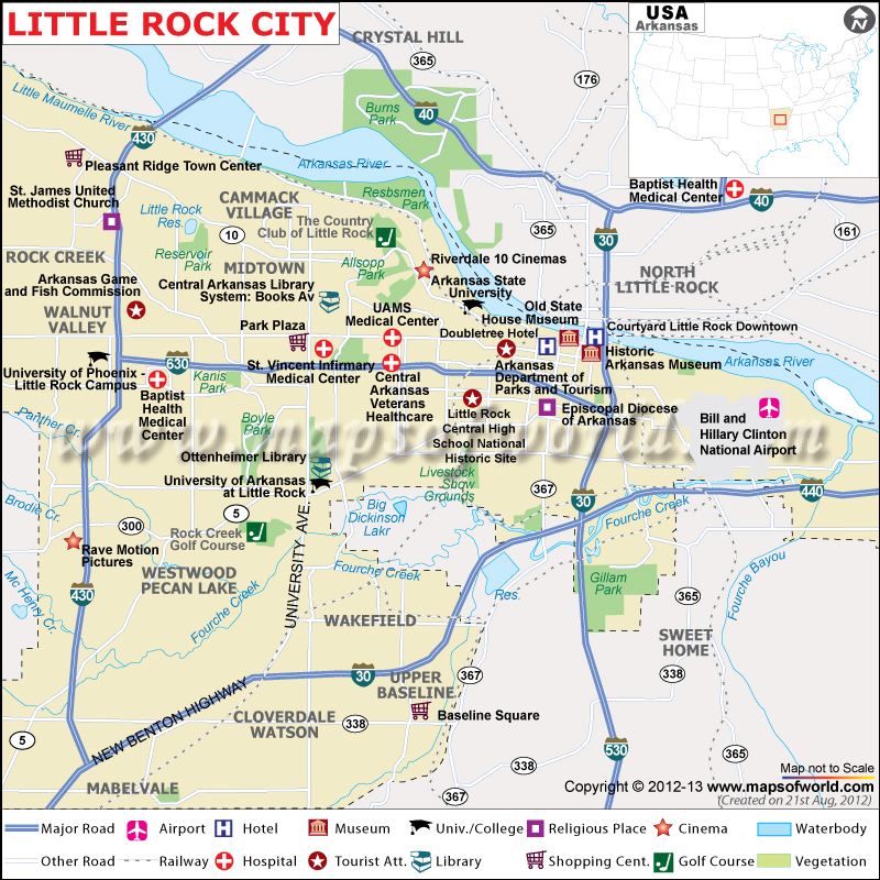 Little Rock City Map
