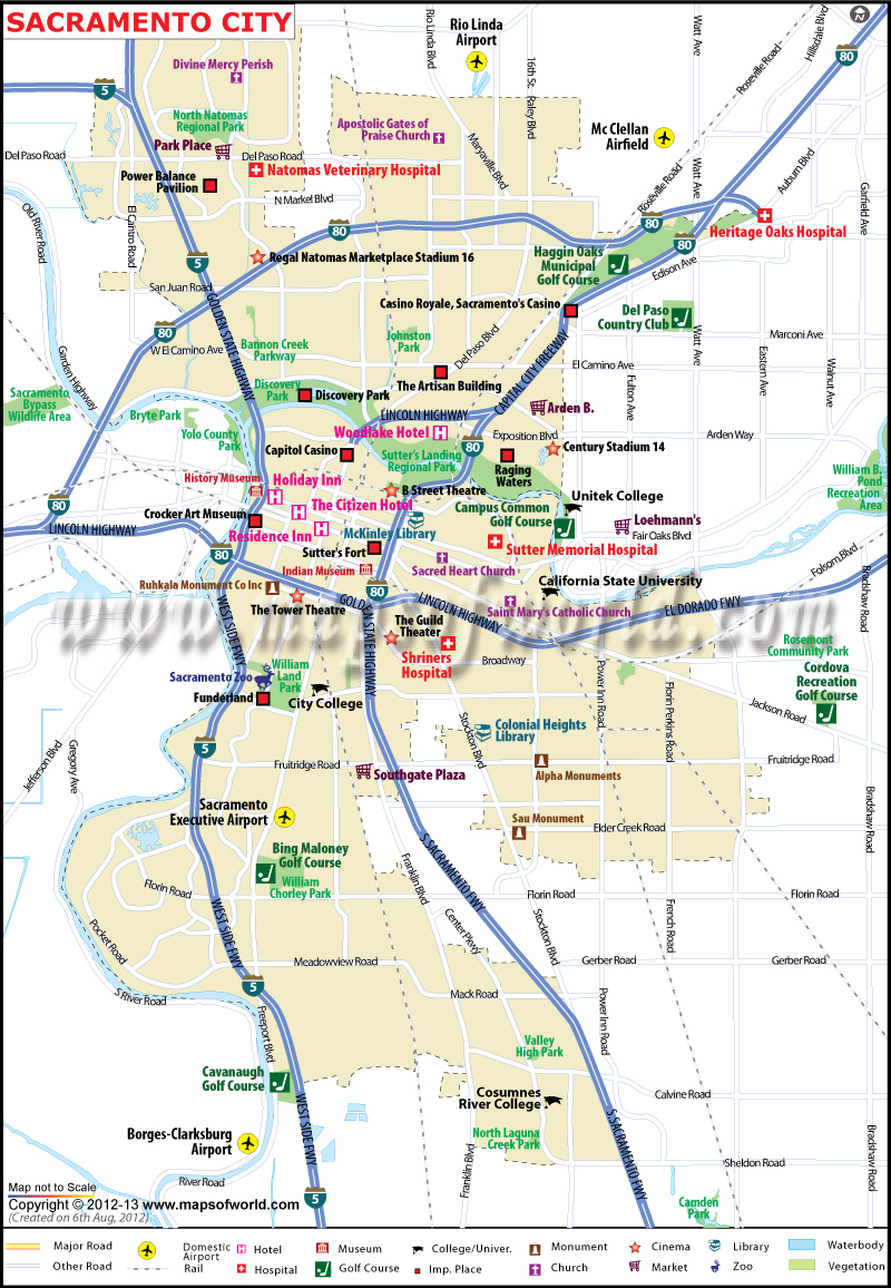 Sacramento Map | City Map of Sacramento