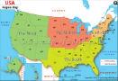 North America Regions Map