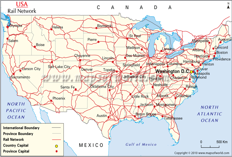 US Railroad Map US Railway Map USA Rail Map for Routes – Train Travel In Usa Maps