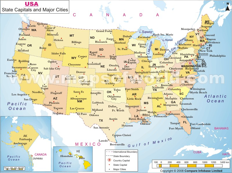 Maps Usa Map With Major Cities - Maps of usa with states