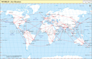 World Air Routes Map