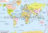 World Map in Bulgarian
