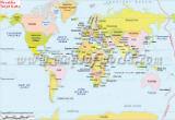 World Map in Croatian