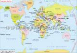 World Map in Finnish