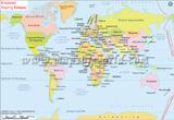 World Map in Greek