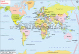 World Map in Icelandic