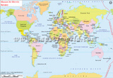 World Map in Italian