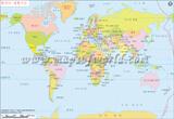 World Map in Korean