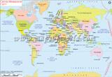 World Map in Macedonian