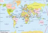 World Map in Serbian