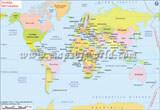 World Map in Swedish