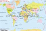 World Map in Turkish