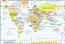 Breiten und Längengrad Karte