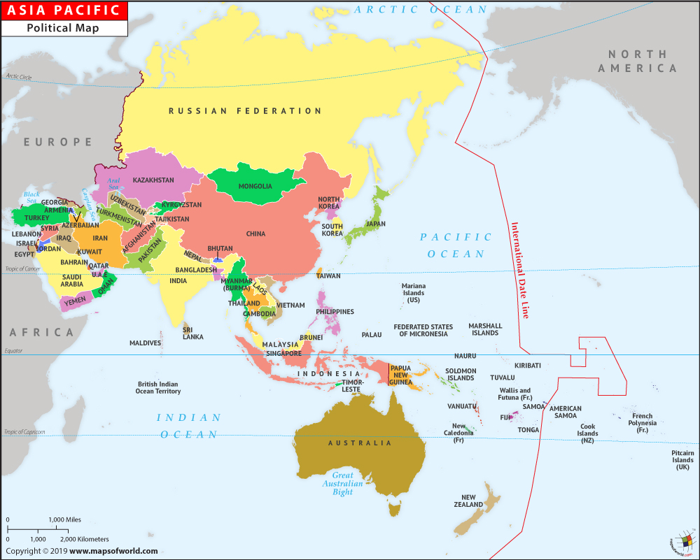 Description world map a world map with asia pecific region at