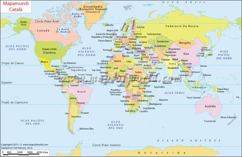Mapa Del Mon Imagui